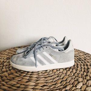 Adidas Grey Suede Gazelle Sneakers
